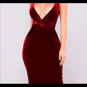 Red Velvet Dress ! YOU KNOW YOU WANT IT!!